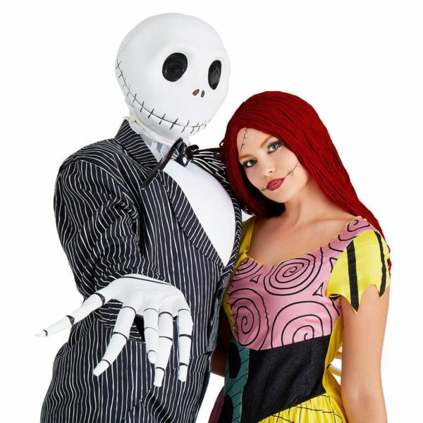 idée de déguisement couple halloween squelette et poupée effrayante