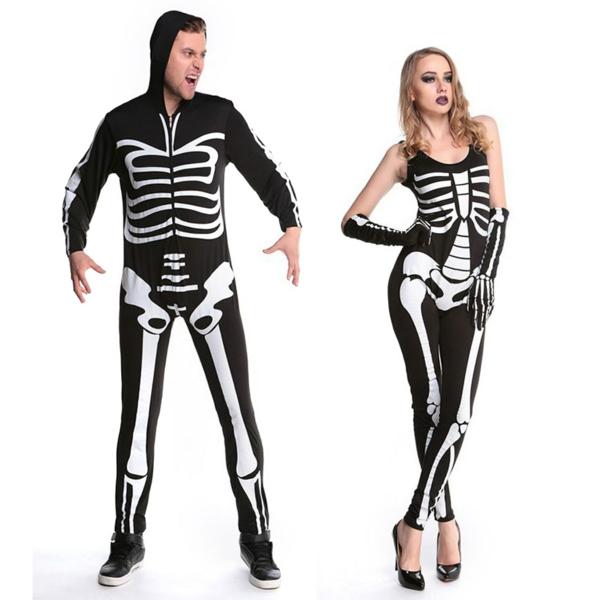idée de déguisement couple halloween squelettes