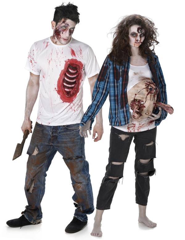 idée de déguisement couple halloween zombis