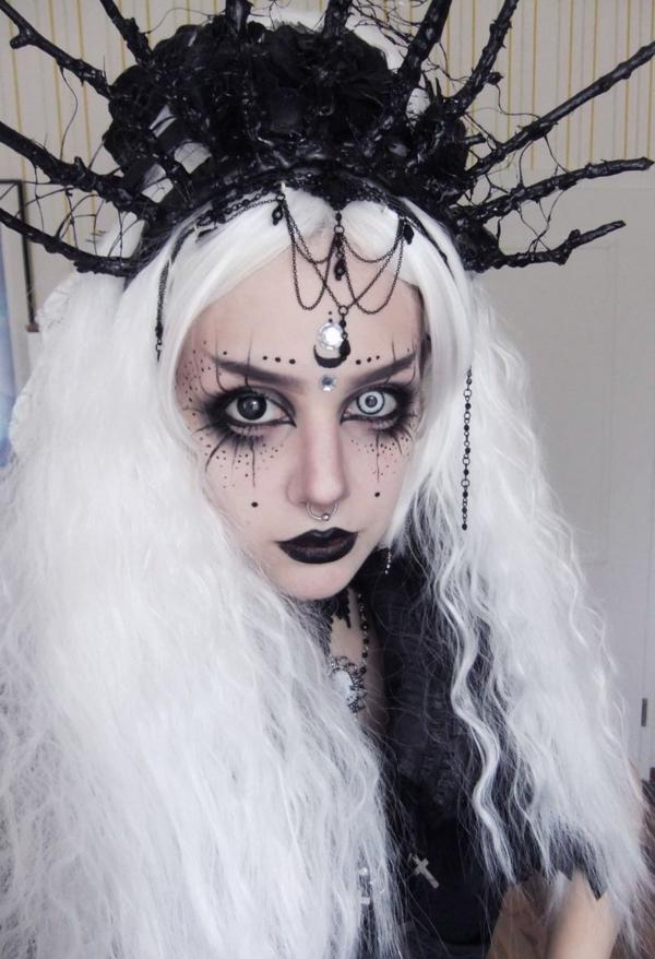 idée de maquillage pour halloween araignée géante