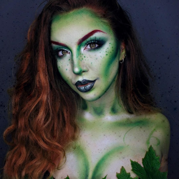 idée de maquillage pour halloween créature de forêt