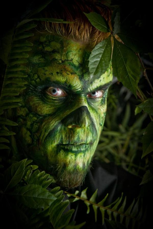 idée de maquillage pour halloween créature de jungle
