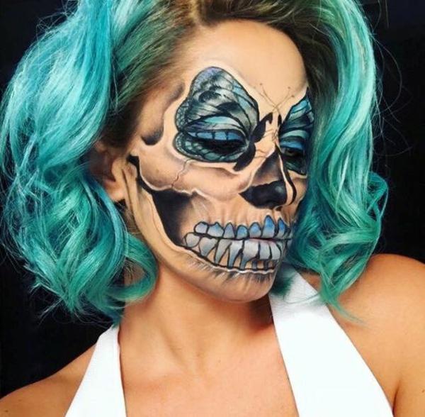 idée de maquillage pour halloween effrayant