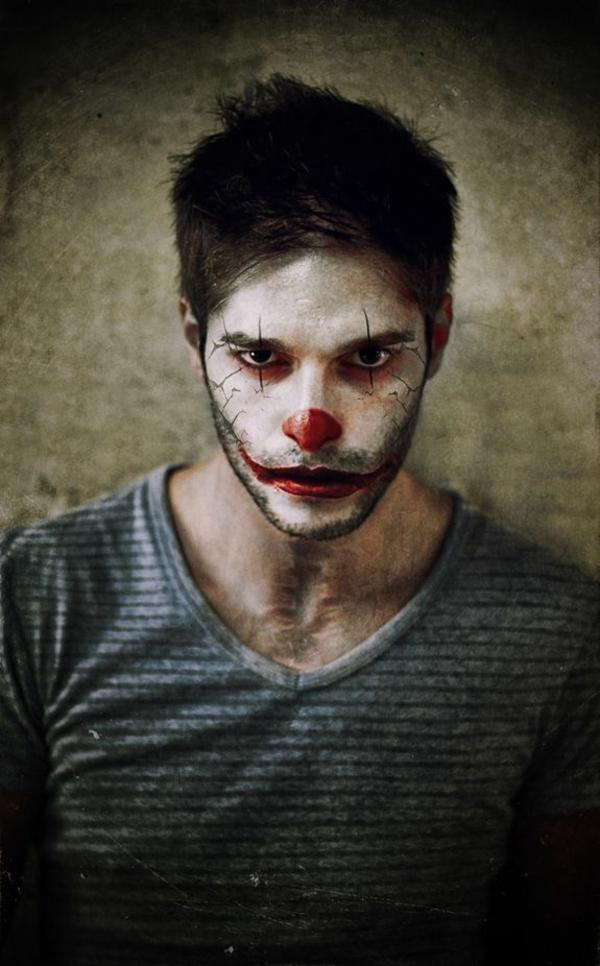 idée de maquillage pour halloween homme clown