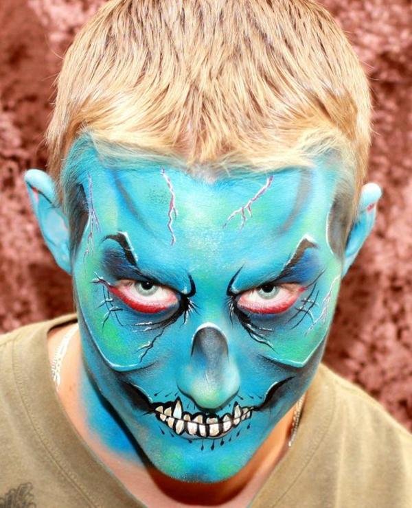 idée de maquillage pour halloween homme diable