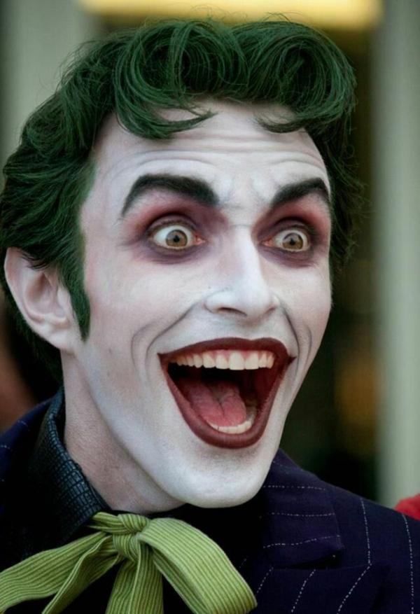 idée de maquillage pour halloween joker