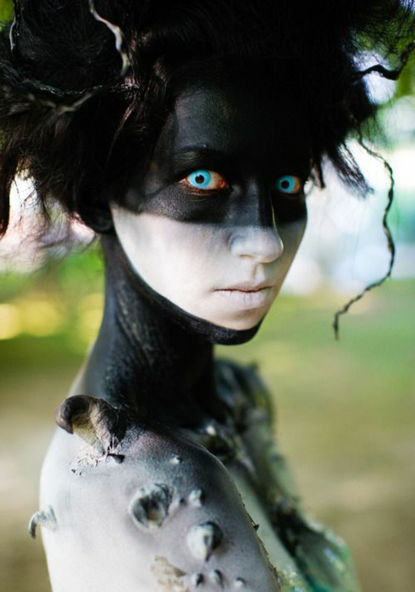 idée de maquillage pour halloween noir