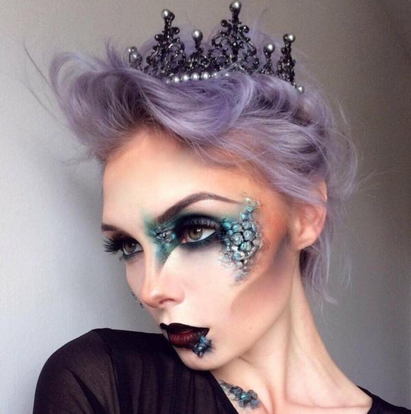 idée de maquillage pour halloween peau de serpent
