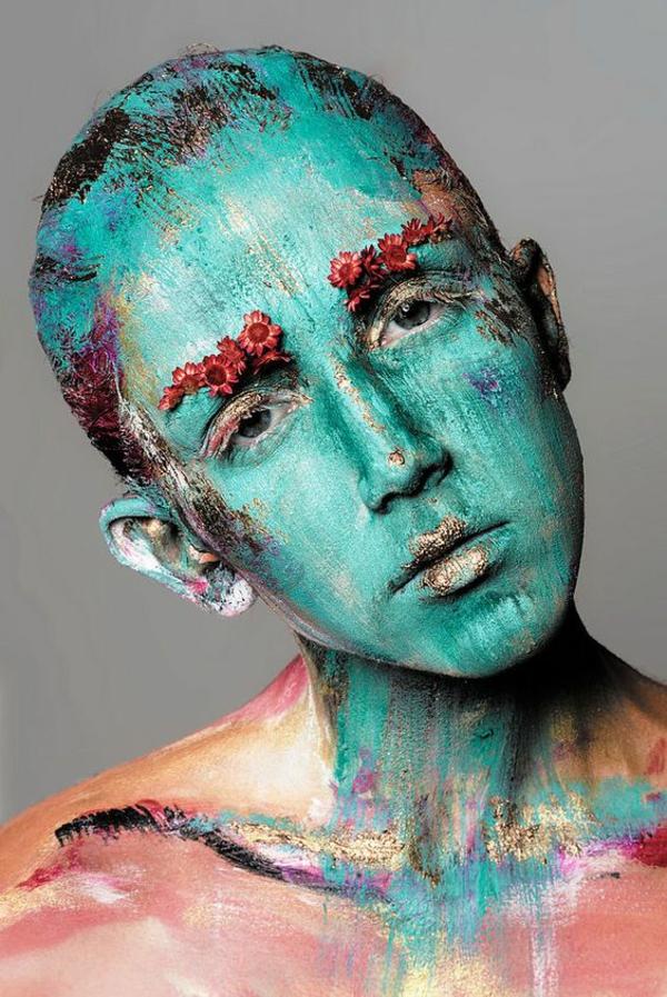 idée de maquillage pour halloween peinture
