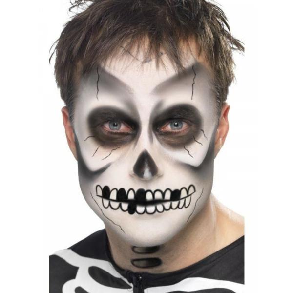 idée de maquillage pour halloween squelette homme