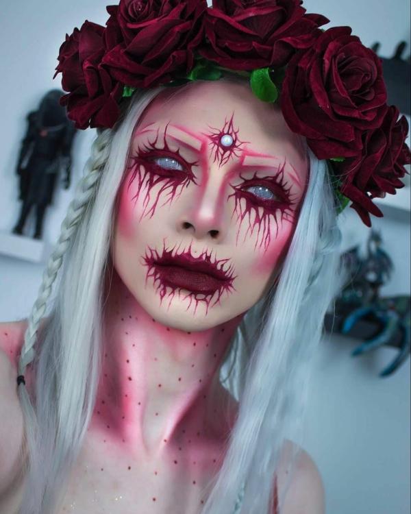 idée de maquillage pour halloween terrifiant