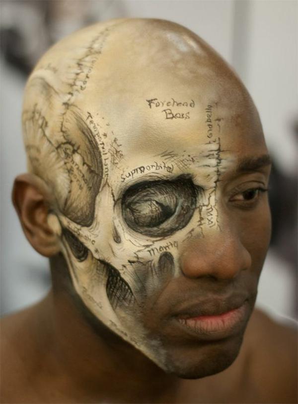 idée de maquillage pour halloween zombie