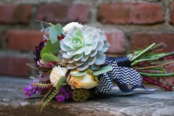 idée diy bouquet de mariée artificiel