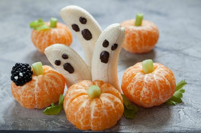 idée recette halloween bananes