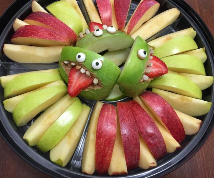 idée recette halloween pommes