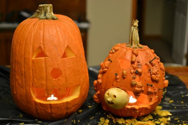 idée simple pour creuser une citrouille pour halloween