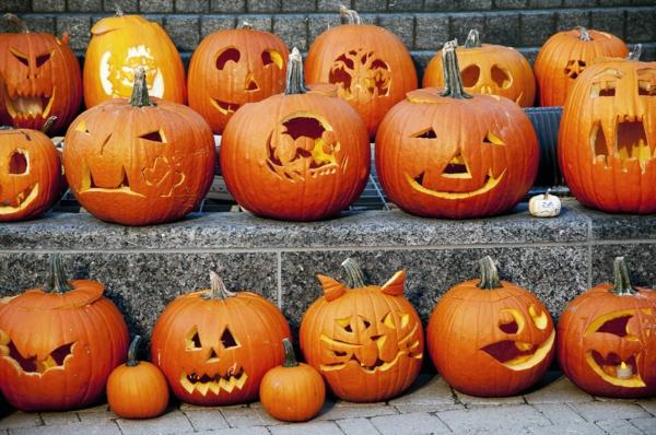 idées créatives pour creuser une citrouille pour halloween