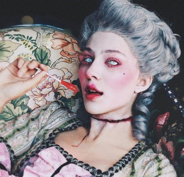maquillage facile pour halloween femme gorge coupée