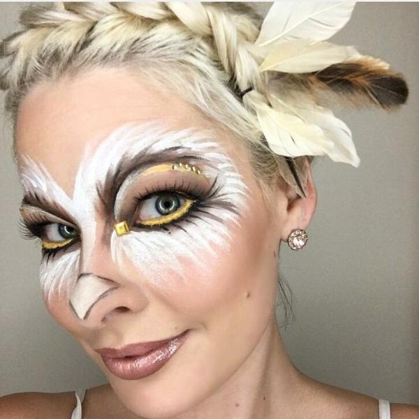 maquillage facile pour halloween femme hibou
