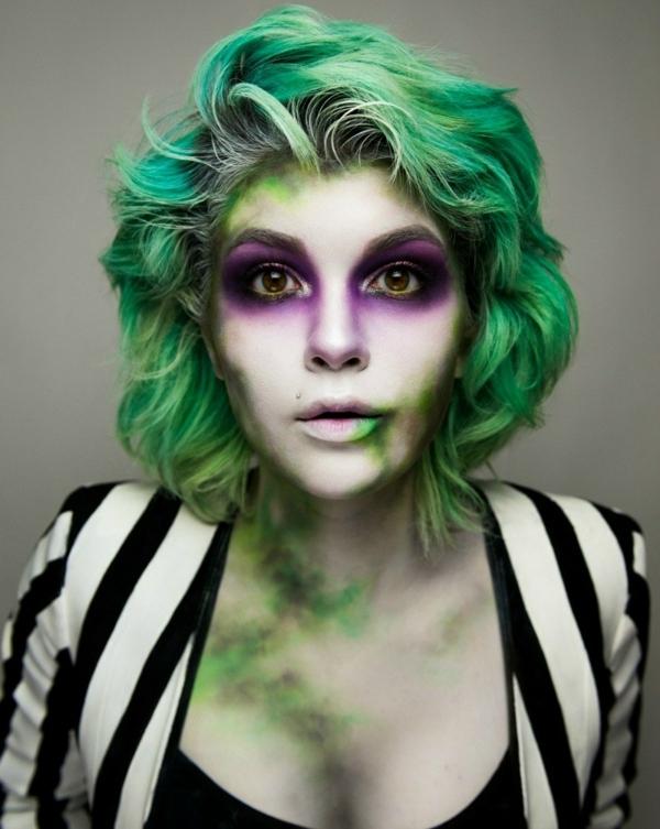 maquillage facile pour halloween femme joker