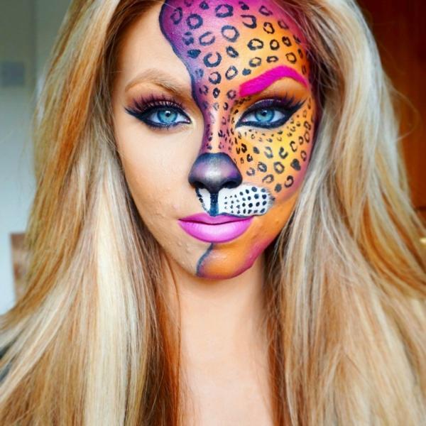 maquillage facile pour halloween femme léopard