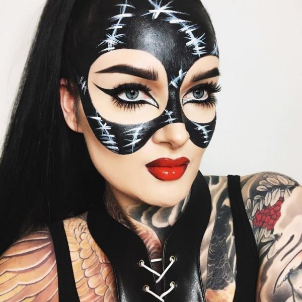 maquillage facile pour halloween femme thème batman