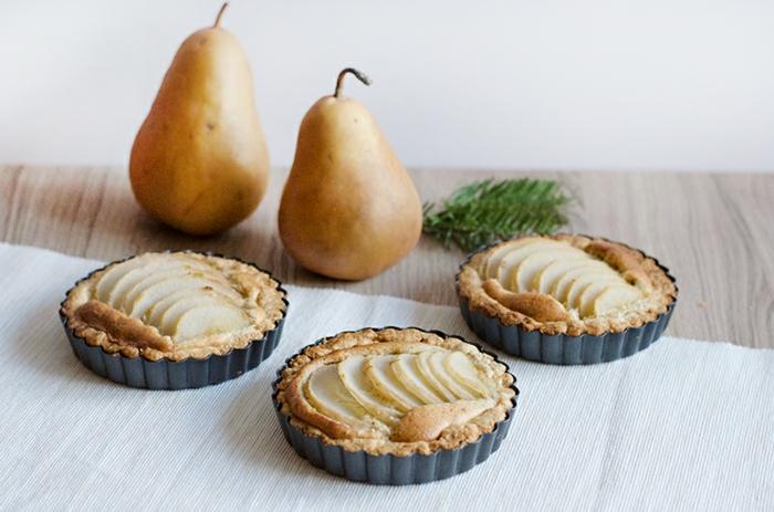 mini tarte amandine aux poires