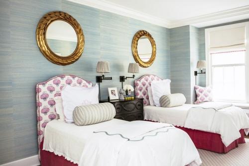 miroir Ikea chambre à deux lits