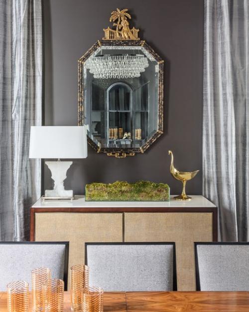 miroir Ikea mélange du beige gris
