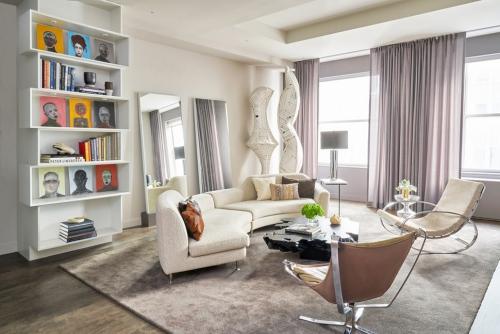 miroir Ikea un salon couleur pastel