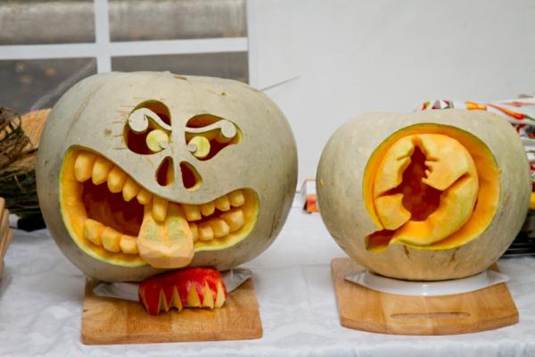 modèles créatifs creuser une citrouille pour halloween