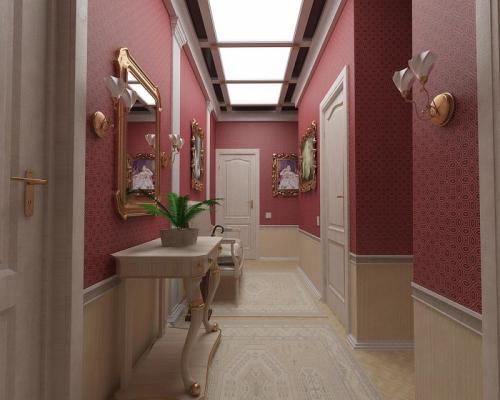 papier peint couloir ambiance chic