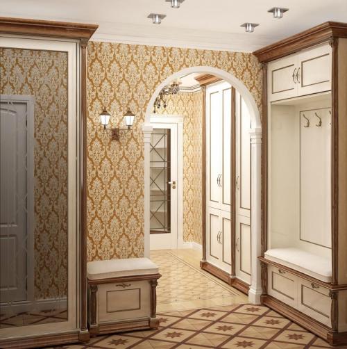 papier peint couloir deux petits espaces