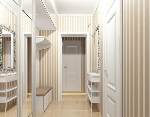papier peint couloir peint ou imprim c est ind modable. Black Bedroom Furniture Sets. Home Design Ideas