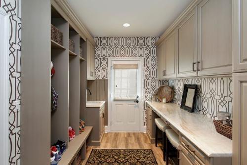 papier peint couloir grand corridor