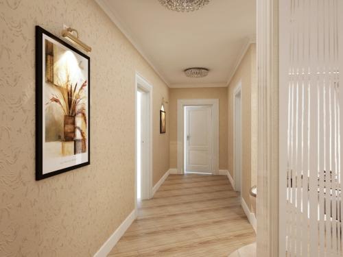papier peint couloir long et large