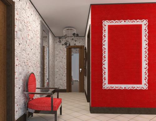 papier peint couloir trois types de murs