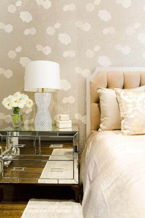 papier peint panoramique beige jaune pour les meubles