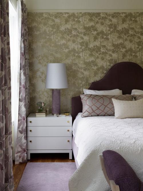 papier peint panoramique rideaux à motifs floraux