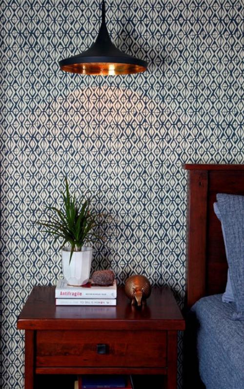 papier peint panoramique style vintage de la chambre