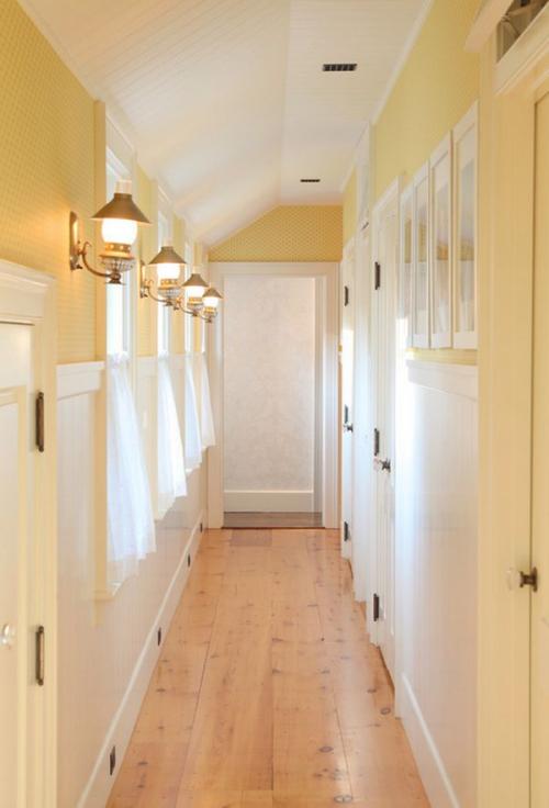 peinture couloir moderne corridor long et clair
