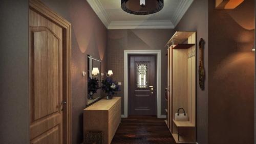 peinture couloir moderne couleur sombre