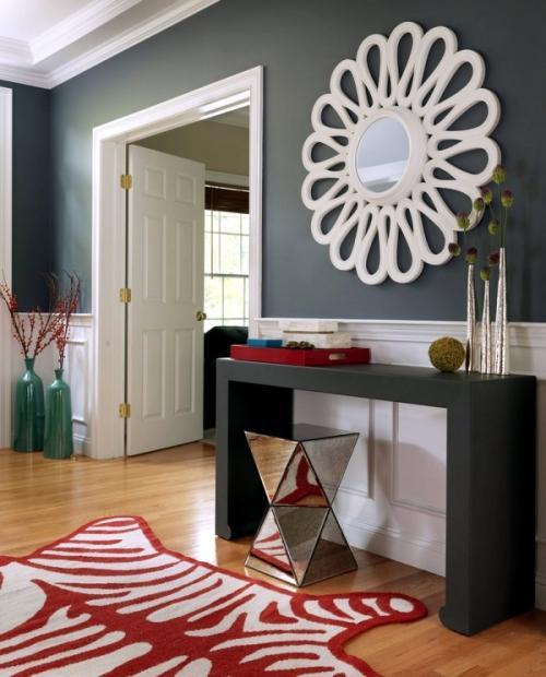 peinture couloir moderne murs bicolores