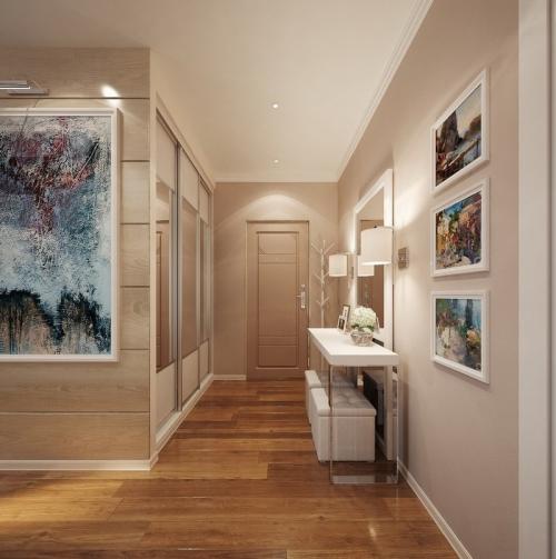 peinture couloir moderne un corridor en beige