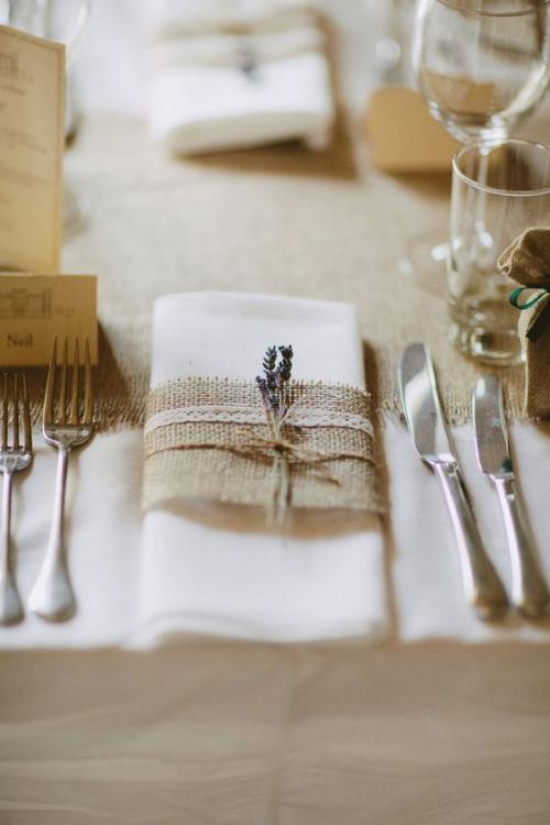 pliage serviette mariage style champêtre