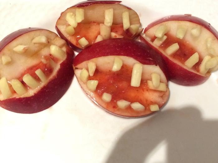pommes pour une idée recette halloween facile