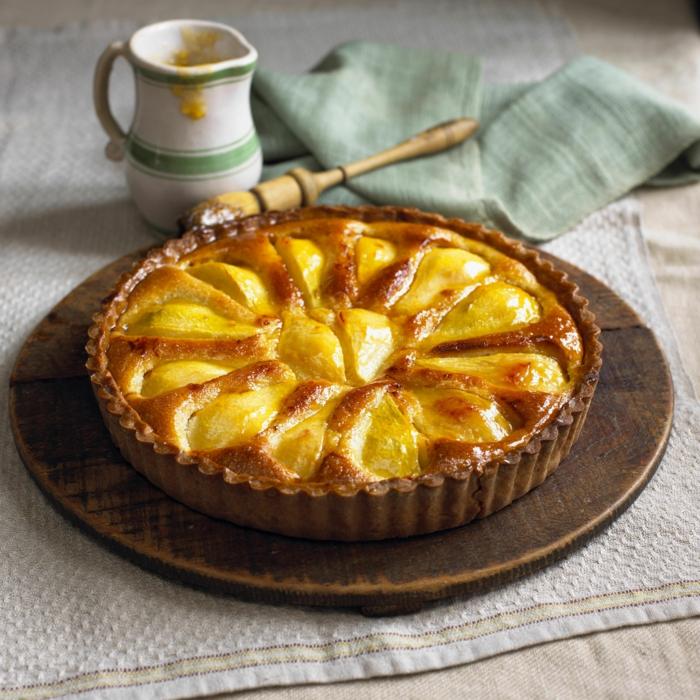 préparer une tarte amandine aux poires