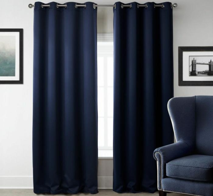 rideau isolant bleu