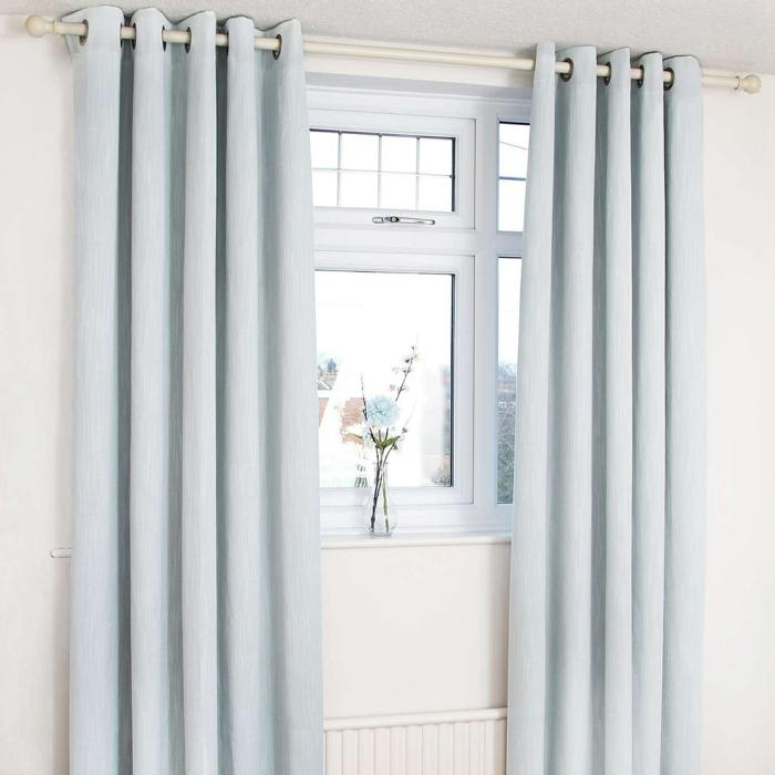 rideau isolant bleu gris