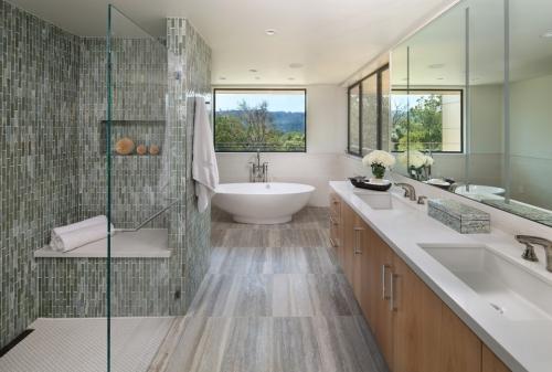 salle de bains avec suites carrelage bois et faïence